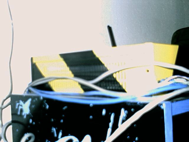 Site shot of the rad black and yellow warning stripes.