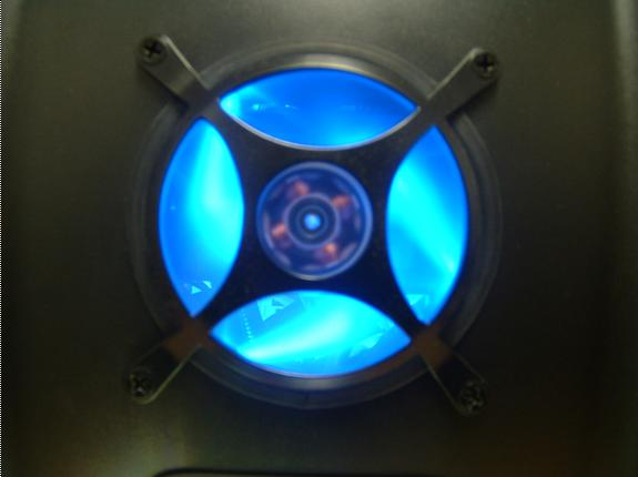 front hole with crill (fan cools down 2 hdd's)