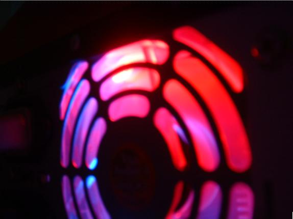 i modified a normal blue led fan and put in 2 red leds