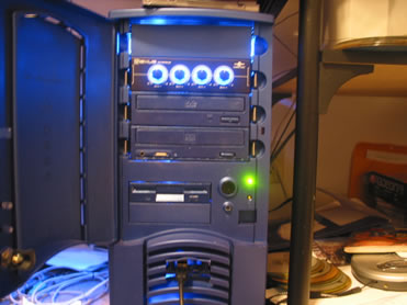 front with the lights on and no flash. (Notice hardly any wires showing)