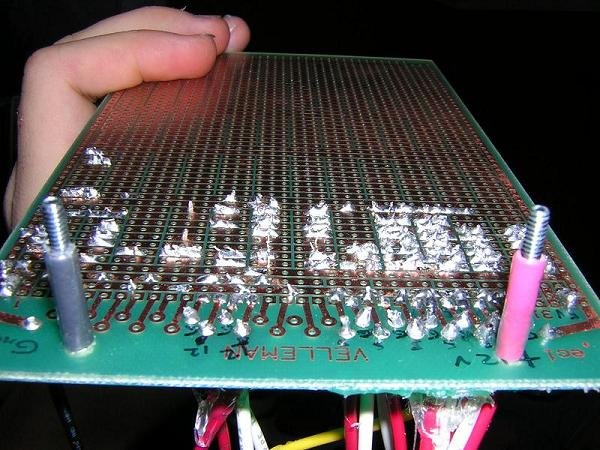My circuit for LEDs before it is installed in the case