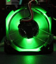 Totaly new modification: Atomic logo lit-up fan