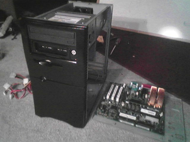 everything being reinstalled onto the case