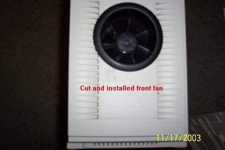 put fan in to check fit