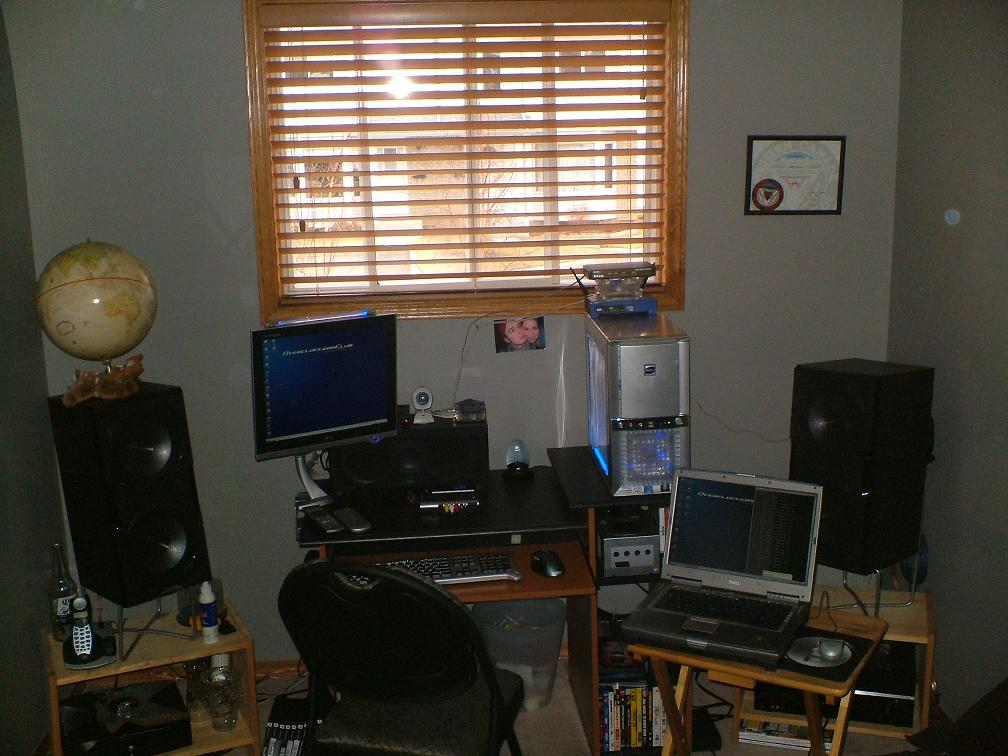 View of the work area