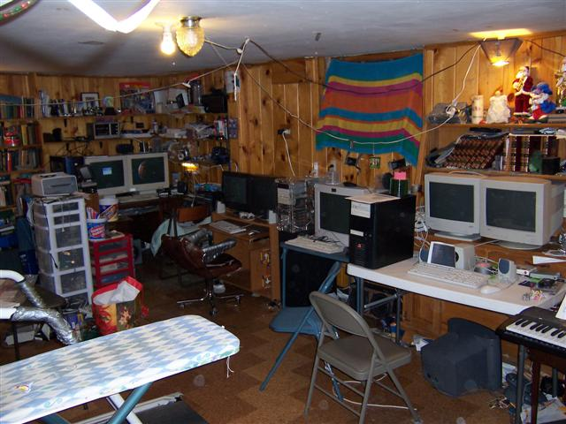 My whole computer area