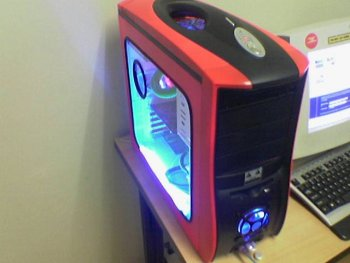 Case with lights on