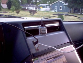 GPS unit and USB connections