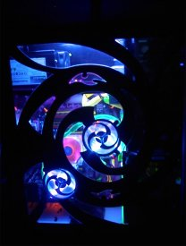 Just the UV and blue lights on