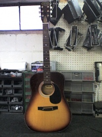 The guitar before any cutting