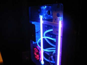 Another side view displaying the rear UV 80mm fans