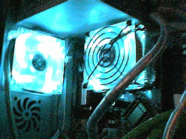 cpu and exhaust fan