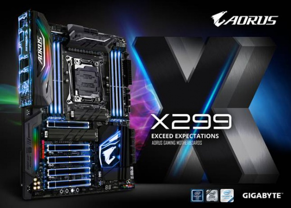 Gigabyte Announces X299 AORUS Gaming Motherboards