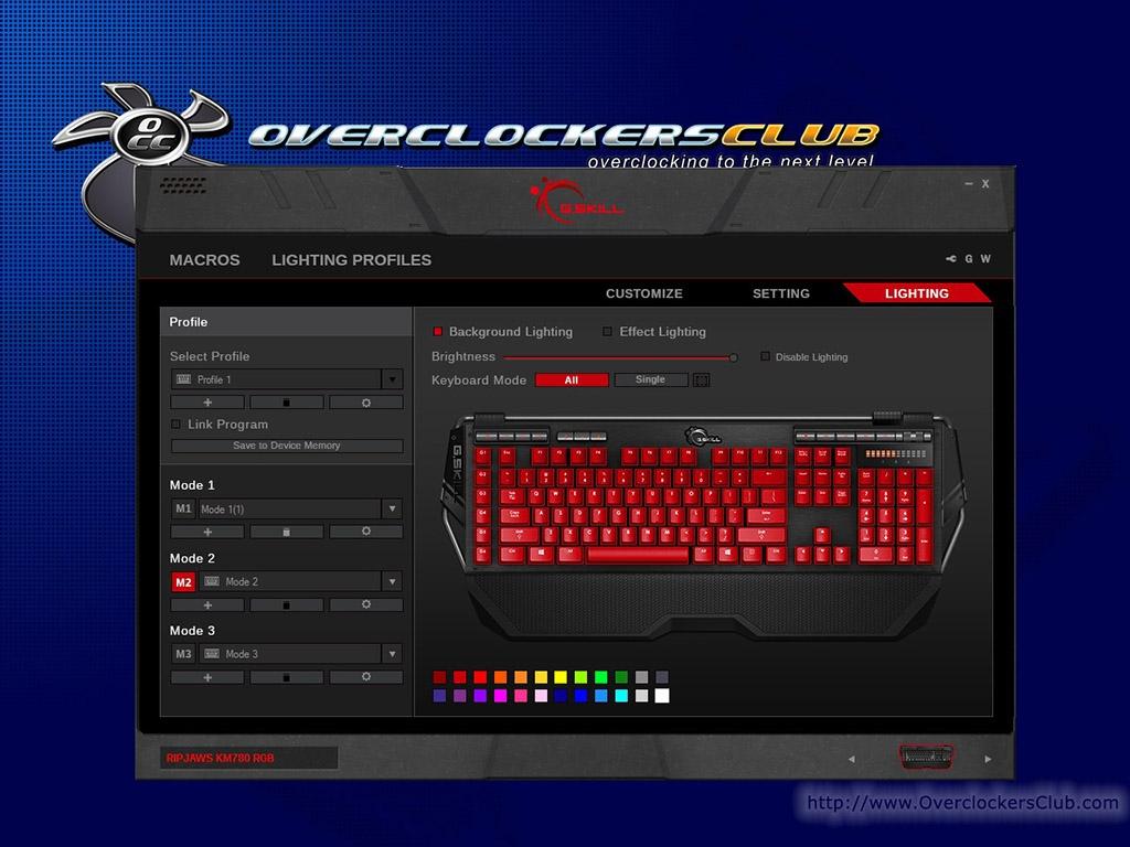 G SKILL Ripjaws KM780 RGB Mechanical Keyboard: Software