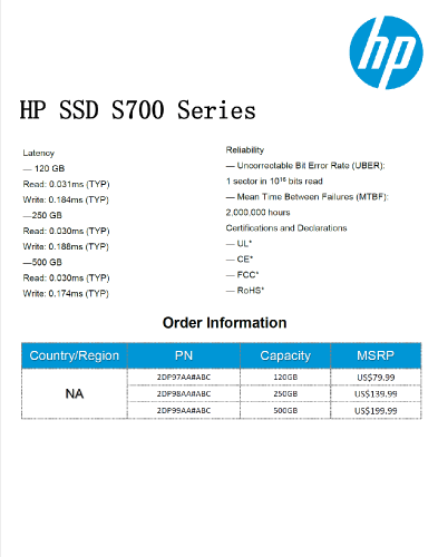 HP S700 SSD: Specifications & Features, Testing Setup
