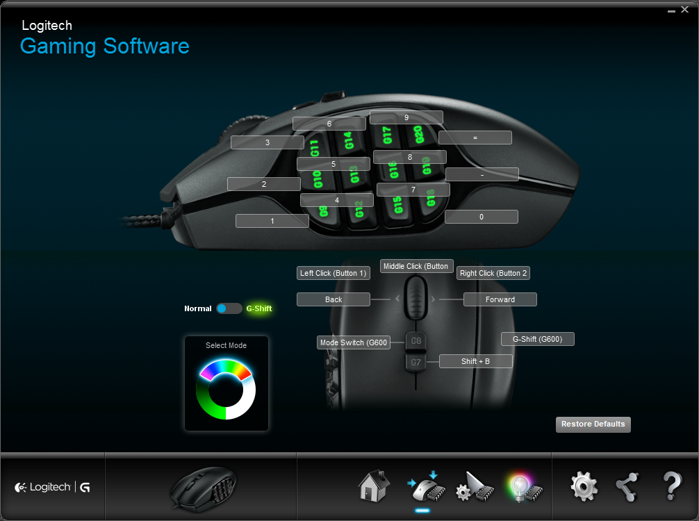Logitech G600 MMO Gaming Mouse: Specifications & Features