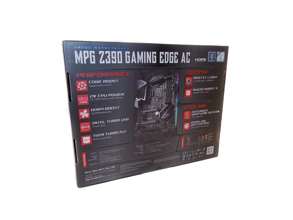 MSI MPG Z390 Gaming Edge AC Review - Overclockers Club