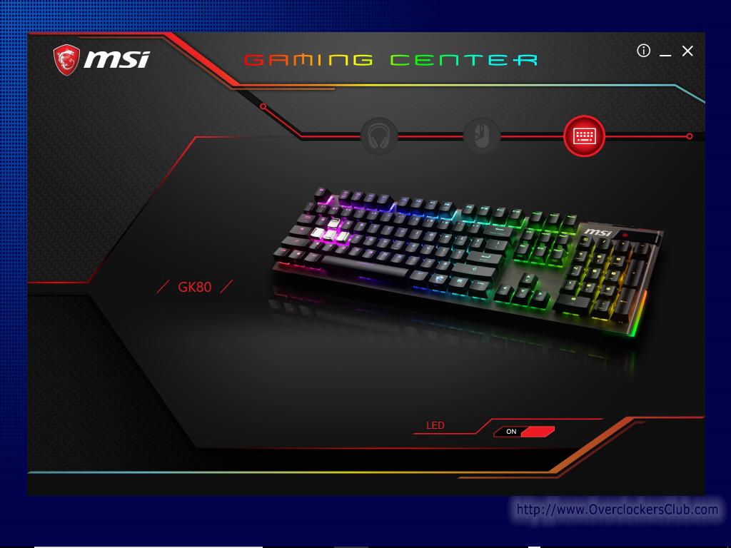 Msi Vigor Gk80 Red Gaming Keyboard Review Overclockers Club Steelseries Apex M650 Black Switch