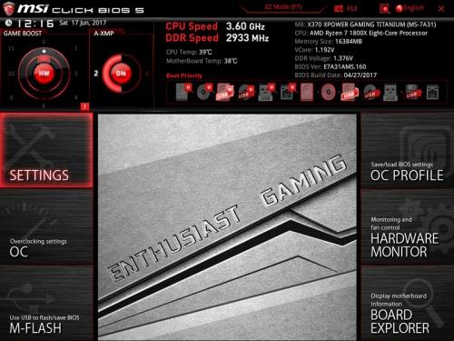MSI X370 XPower Gaming Titanium Review - Overclockers Club