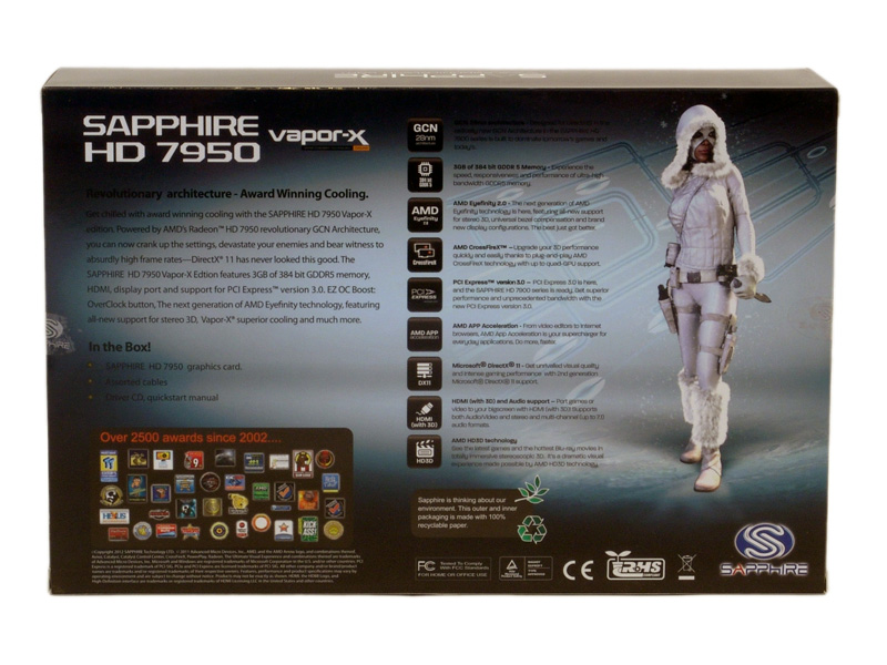 Sapphire Radeon HD 7950 3GB Vapor-X Review » Page 3 - Specifications