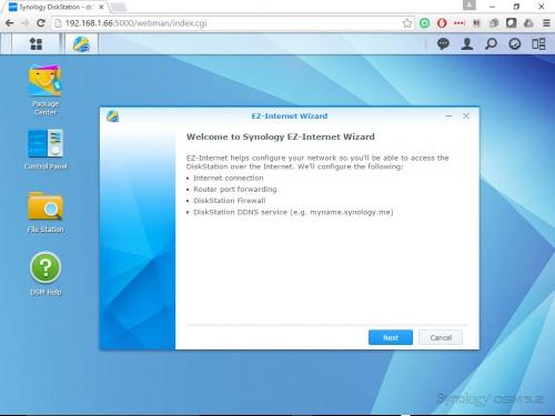 Synology DiskStation DS716+ NAS Closer Look: Start Menu