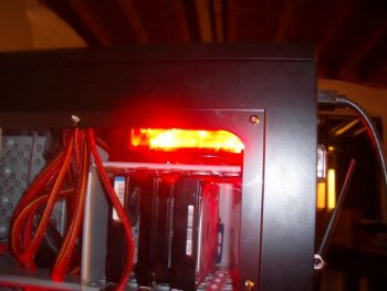 Power Supply w/ Window :) Has a 120mm red led fan in it.  Has a fan controller for that led fan.