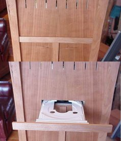 Drawer open and closed
