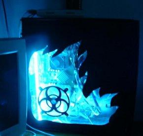 Blue flames of wonder.