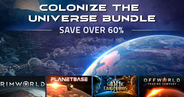 Colonize the Universe Bundle Offers 4 Games from Stardock, Ludeon Studios, and Madruga Works