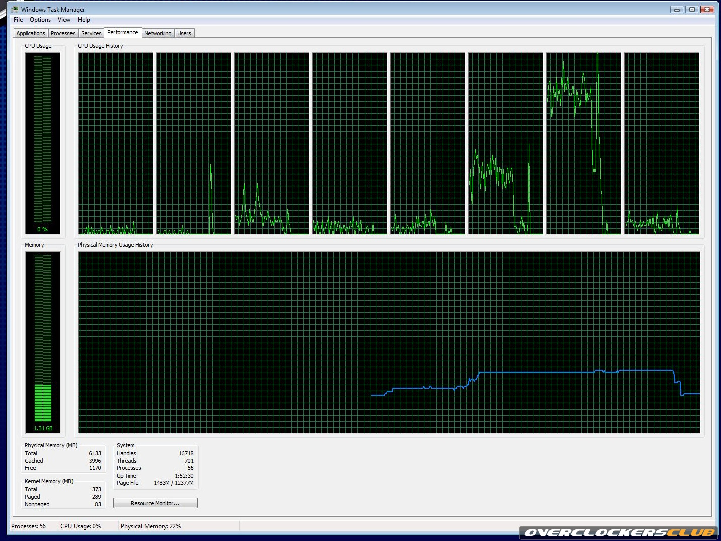 Nvidia CPU Performance Physx ON