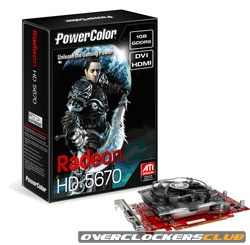 PowerColor Launches ATI Radeon HD 5670 Videocard