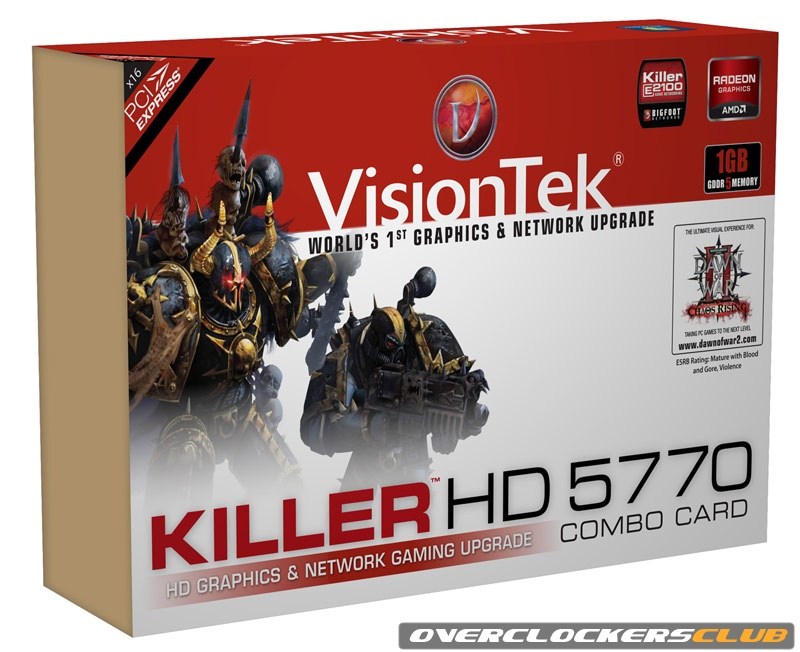 VisionTek Killer HD 5770 NIC Combo Card Arrives