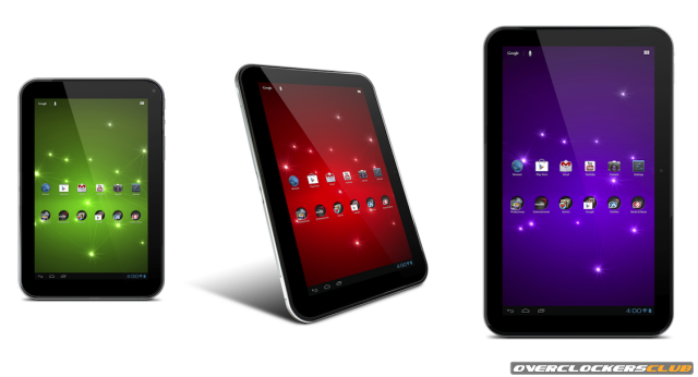New Toshiba Tablets Announced in Three Different Sizes