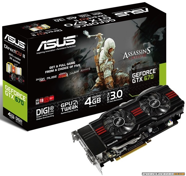 Get Assassin's Creed III for Free with ASUS GTX 670 and GTX 660 DirectCu II