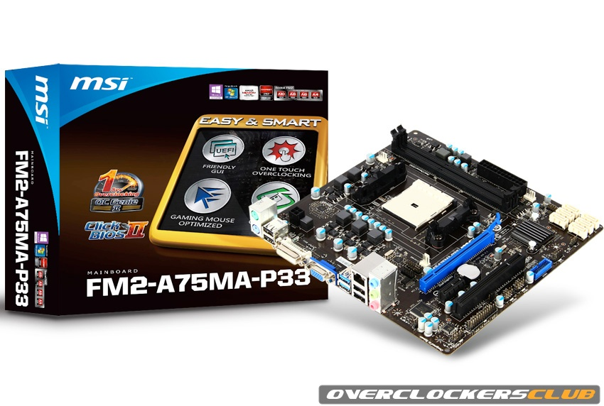MSI's Entry-Level FM2-A75MA-P33 Motherboard Supports Newest AMD Trinity APUs