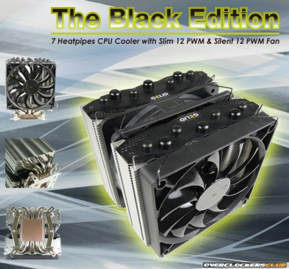 Gelid's 7 Heatpipe Black Edition CPU Cooler Unveiled