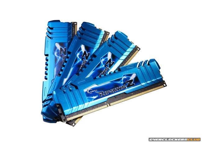 G.Skill Adds 15 DDR3 Quad Channel Kits to the RipjawsZ Line