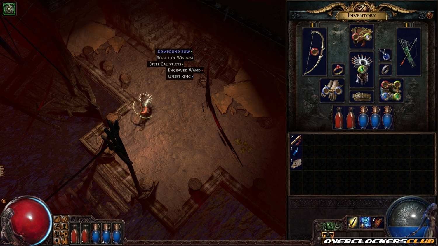 Path of Exile: Sacrifice of the Vaal's Second Teaser Screenshot Shows the Addition of Socketed Jewelry
