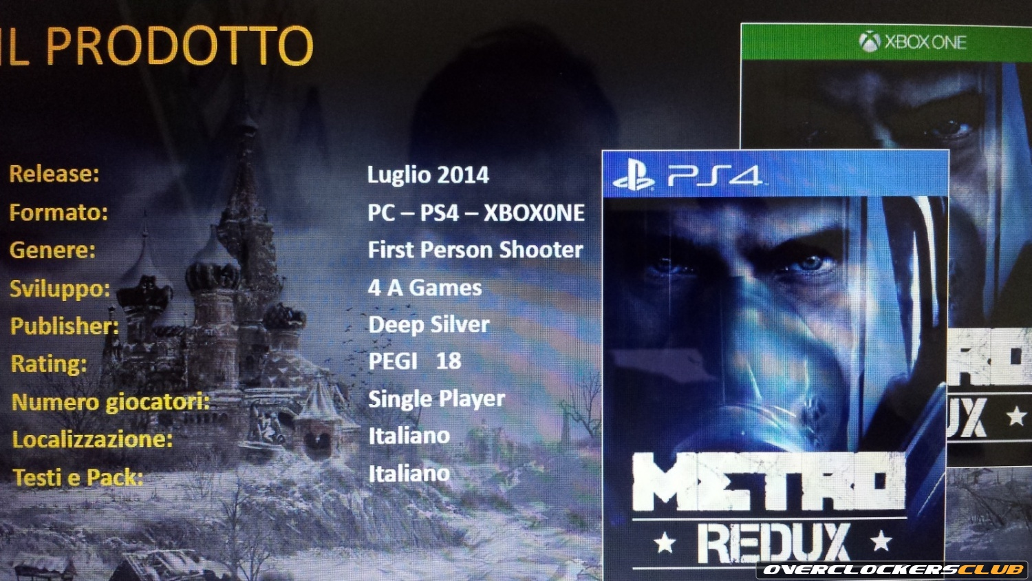 Metro Redux Will Bring Metro 2033 and Metro: Last Light to PS4 and XBO