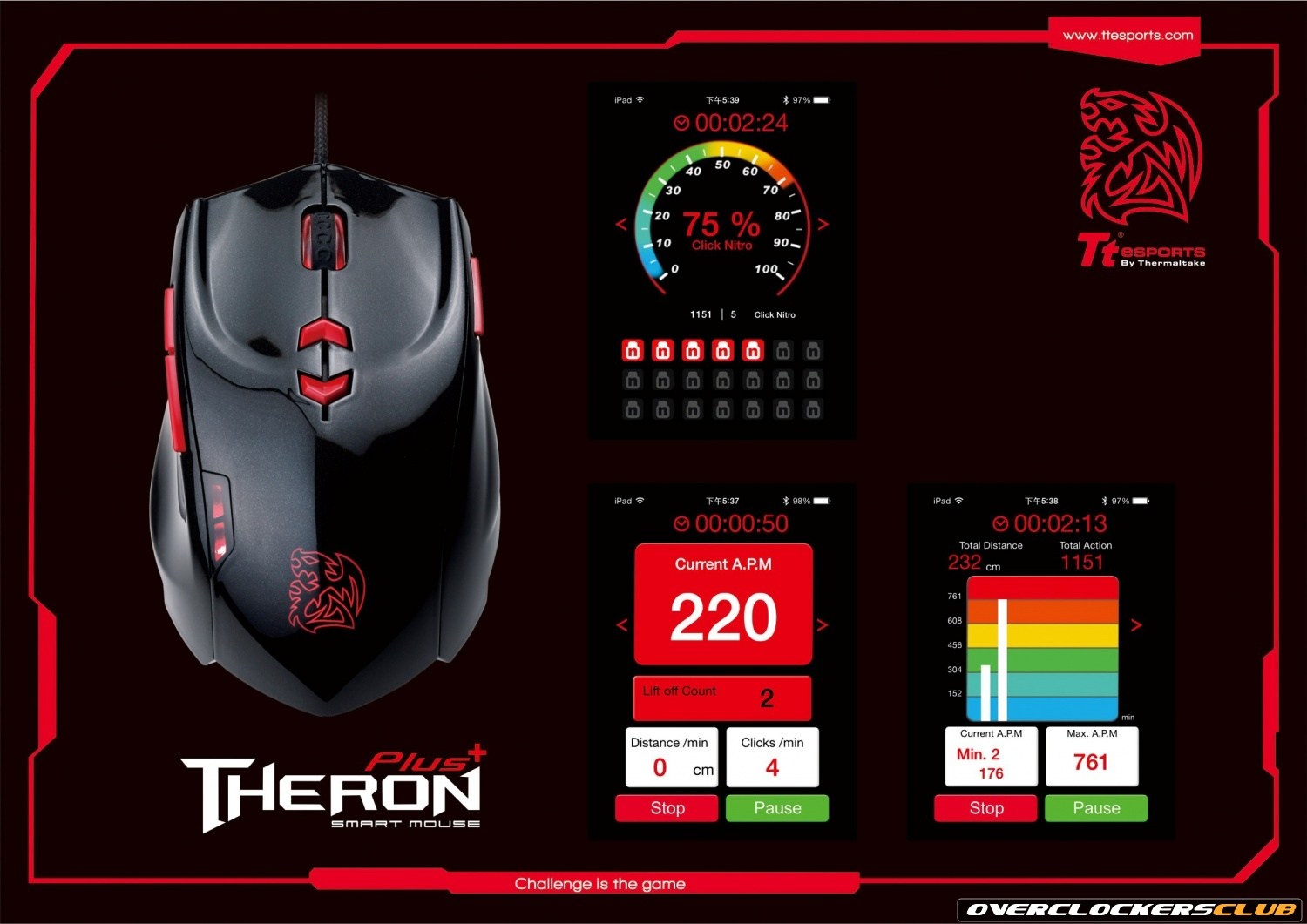Tt eSPORTS Introduces Several New Products at Computex, Highlighted by the New THERON Plus Smart Mouse