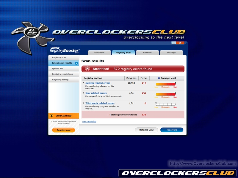 Review Image Uniblue Registry Booster 2010 Review - 4.jpg - Overcloc